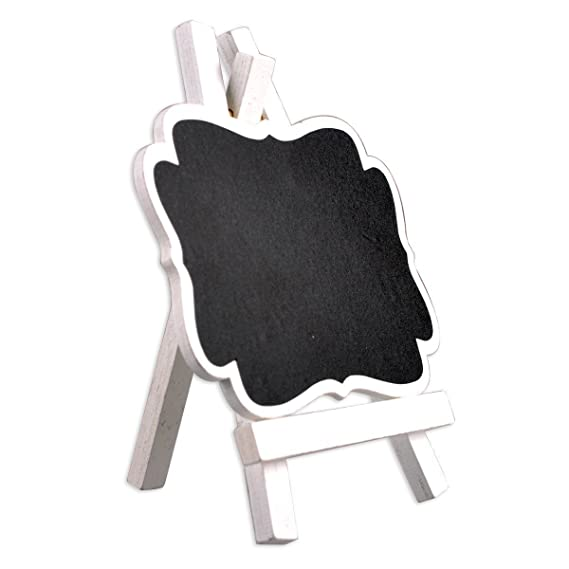 Amazon.com : Mini Chalkboard Signs with Wooden Easel for ...
