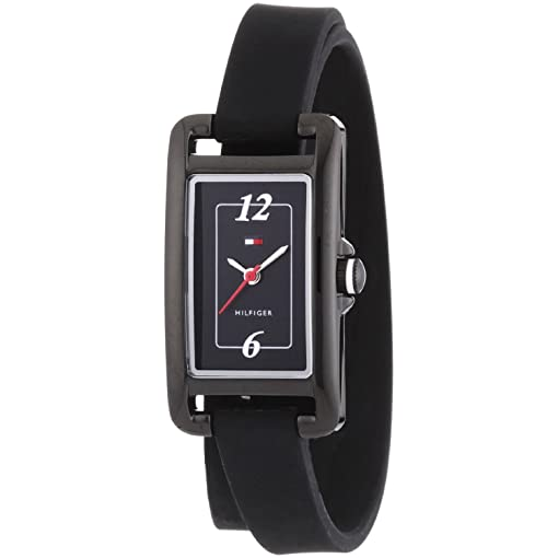 Tommy Hilfiger Classic Black Silicon Double-Wrap Womens watch #1781224