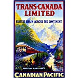 Trans-Canada Limited Railway Vintage Canada Canadian Pacific Travel Advertisement Art Poster