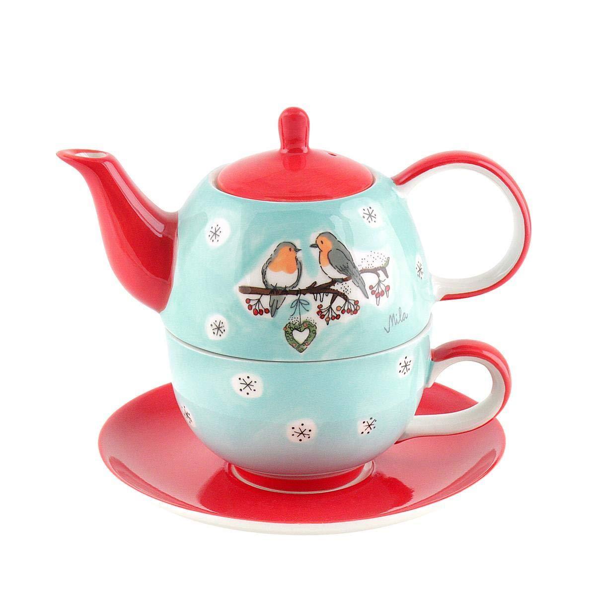 Mila Keramik Tee-Set: Tea for One, Wintervö gel   MI-99158   4045303991583 Mila GmbH