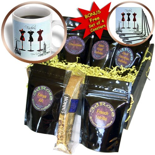 cgb_123393_1 PS Creations - Paris and New York Fashion Dress Forms - Coffee Gift Baskets - Coffee Gift Basket