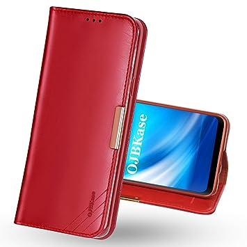 OJBKase Funda Galaxy S7, Carcasa Piel de Cuero Genuino con ...