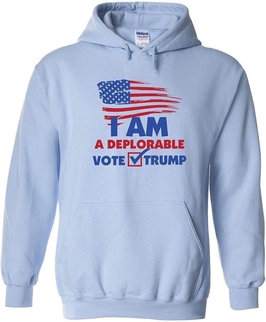 Swaffy Tees 536 Deplorable Vote Trump Funny Adult Hooded Sweatshirt