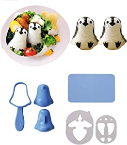 Hofumix Sushi Making Kit Rice Ball Molds Bento Accessories Sandwich Cutters for Kids Kitchen Tools for Baby Kids Meal