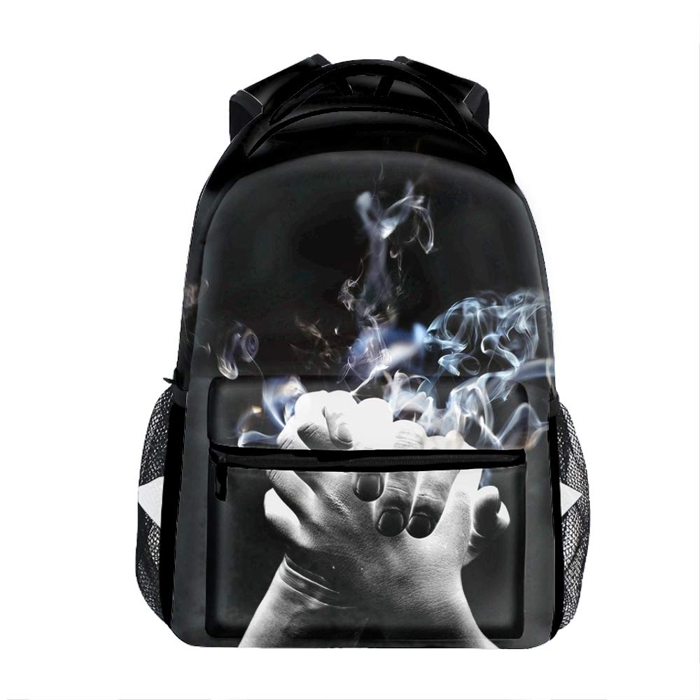 Christ 4 Lightweight Backpack for School, Skull Basic Water Resistant Casual Daypack for Travel with Bottle Side Pockets