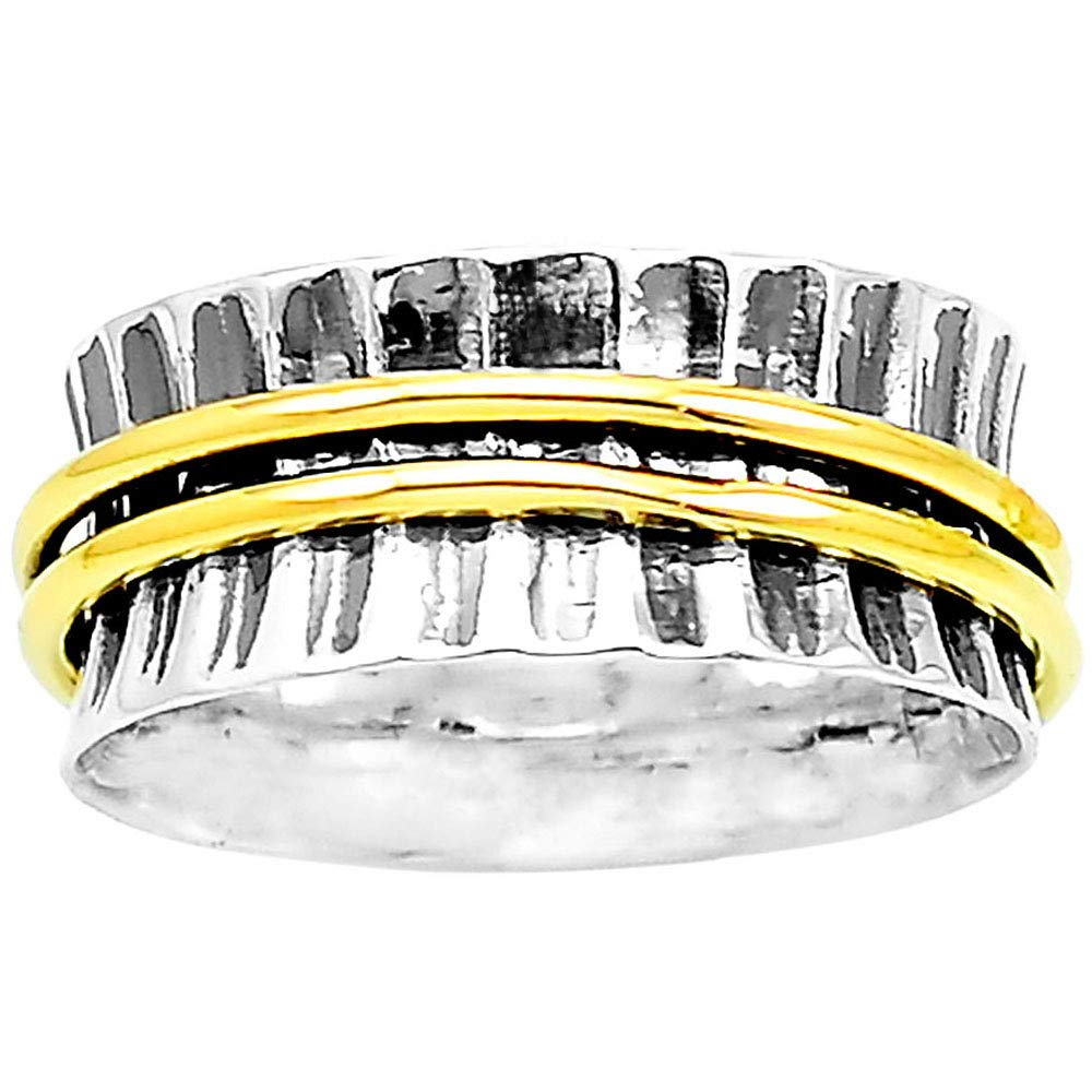 Desiregem Anti Anxiety and Worry Less Spinner Ring Spinning Size DGR1012 9