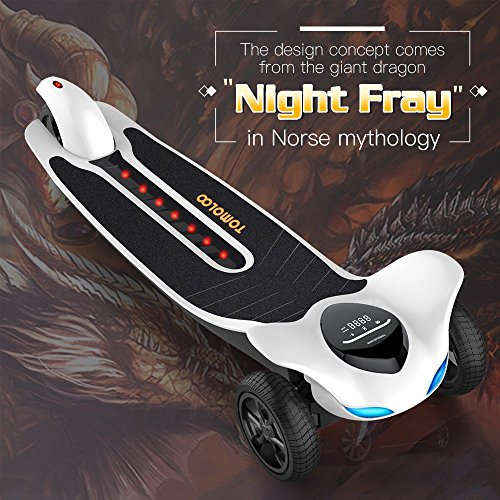 Electric Skateboard with Bluetooth -- TOMOLOO Dragon knight H3  -- Longboard with Remote Controller, 17.5 MPH Top Speed, 12 Miles Max Range by TOMOLOO (Image #1)