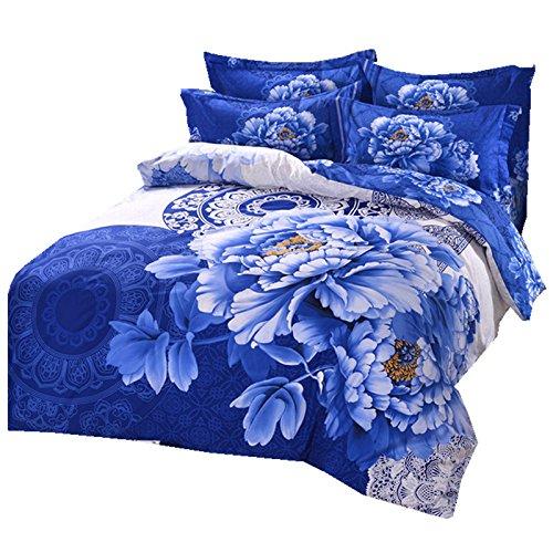 DHWM-Three dimensional thick cotton 4 piece, twill wedding is set of linen, pure cotton bedding 4 piece set ,1.8m