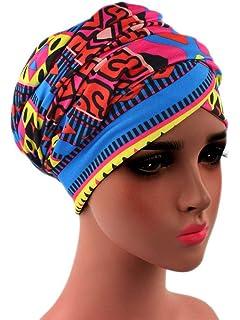 Turban Hat Headband Head Wrap - Purple Black African Women Jersey ... 9f72448d8454