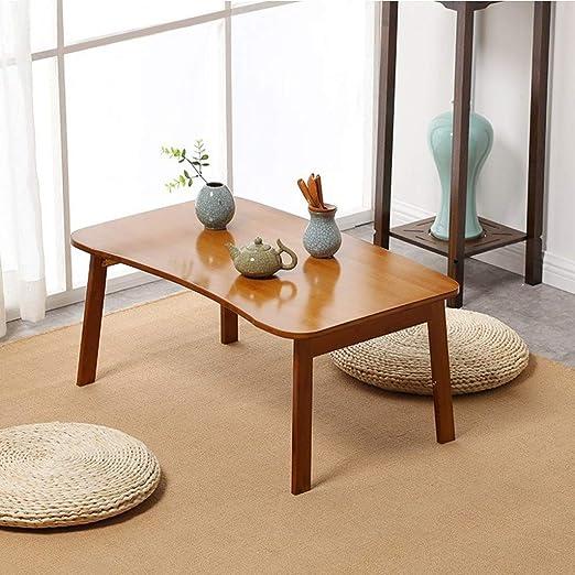 FANGDA Mesa de Escritorio Plegable para computadora de bambú Mesa ...