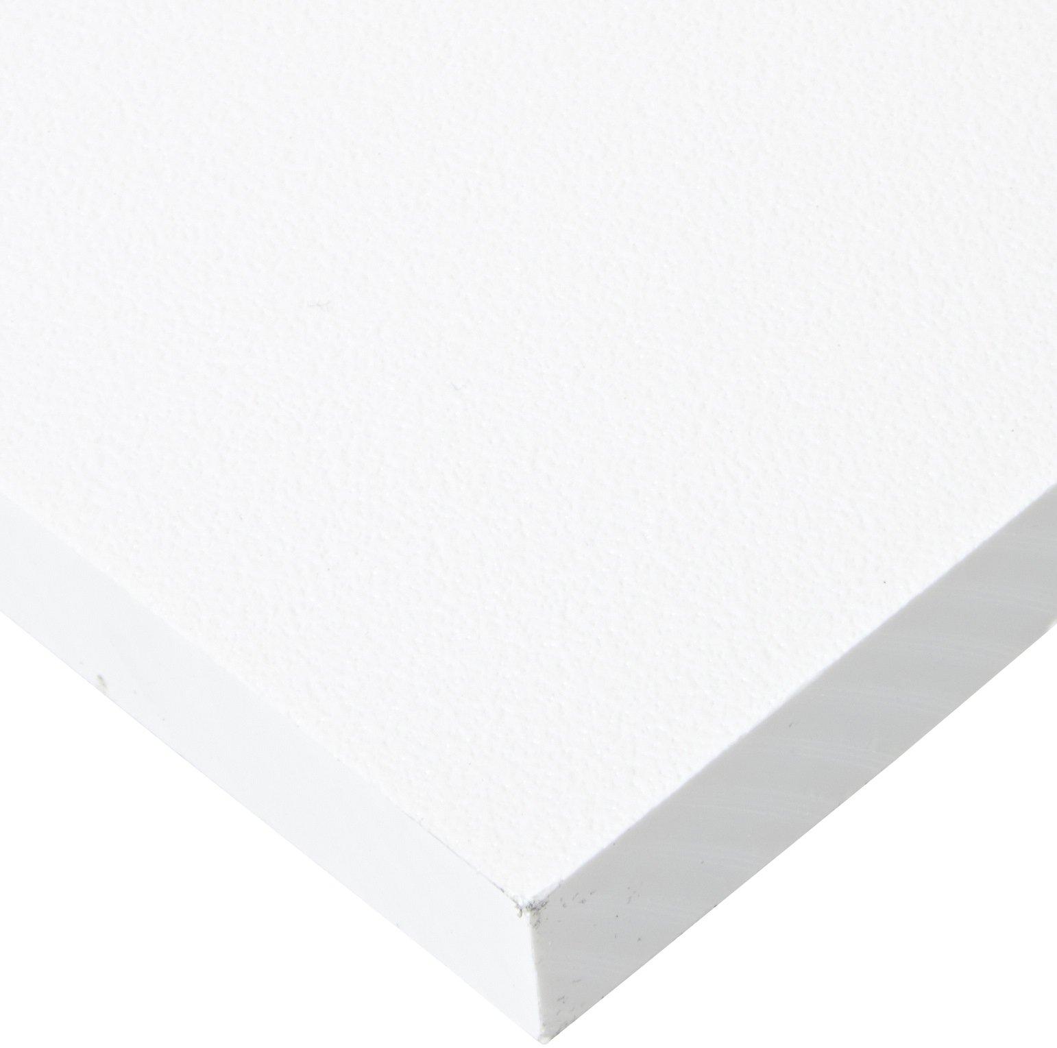 "Plate .250/"" x 24/"" x 24/"" Gray Color PVC Sheet Plastic Polyvinyl Chloride Panel"
