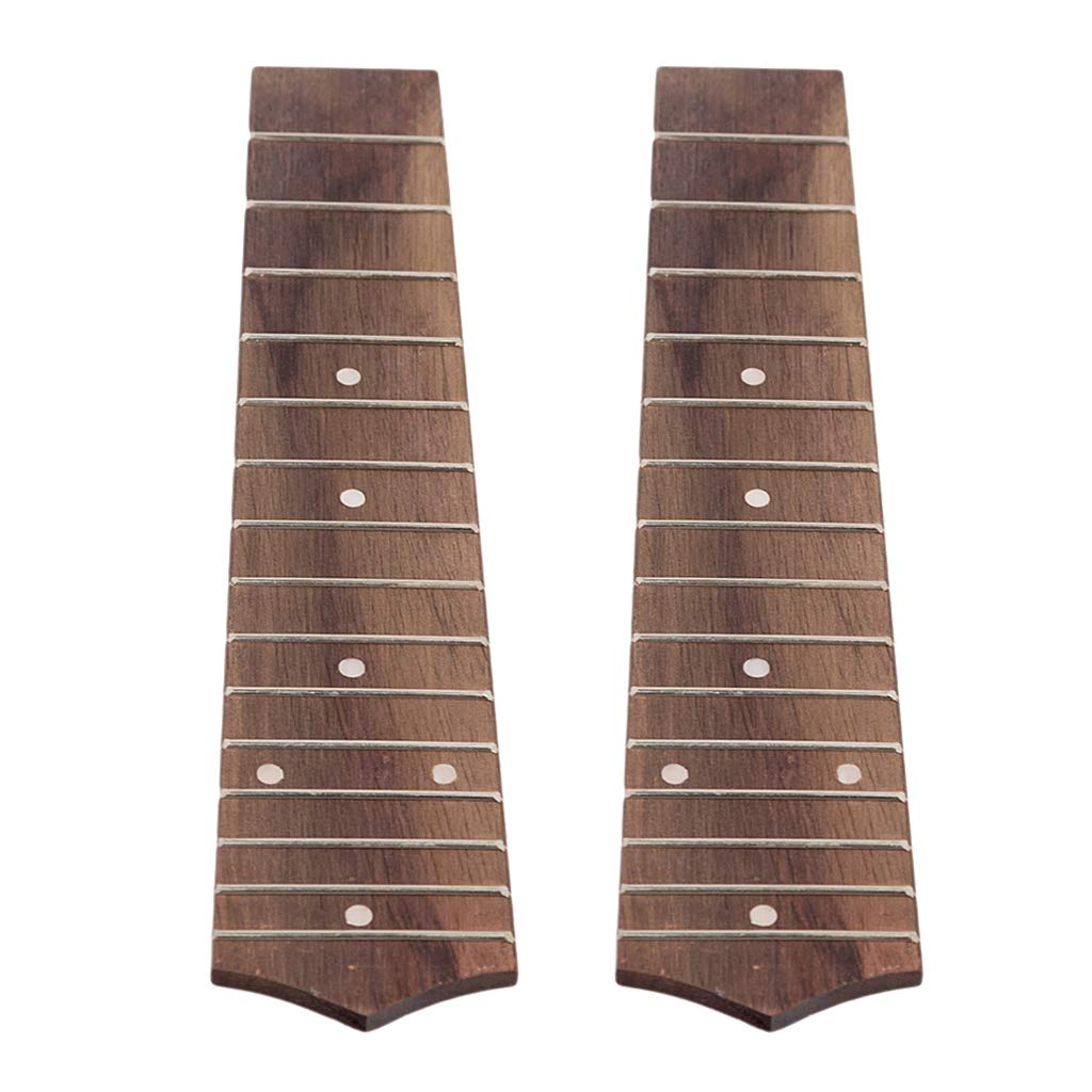 B Blesiya Pack of 2 Exquisite 15 Frets Soprano Ukulele Fretboard DIY Musical Instrument Accessory