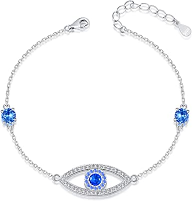 blue white and silver choker
