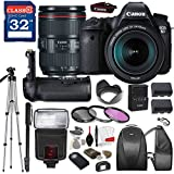 Canon EOS 6D DSLR Camera with Canon EF 24-105mm f/4L IS II USM Lens, TTL Flash, Tripod, Mono-Pod, Battery Grip + Professional Accessory Bundle