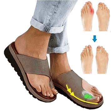 NIUJF Sandalen Große Zehe Fußkorrektur Beiläufige Weiche