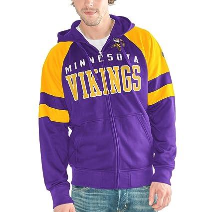 promo code 96530 73944 Amazon.com : Minnesota Vikings Men's League Full Zip Hooded ...