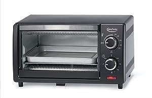 Betty Crocker BC-1664CB Toaster Oven, 0.9 L, Black