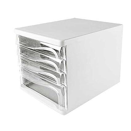 Archivadores Armarios Escritorio Caja de Almacenamiento de Alta Capacidad de 4 Capas Tipo de cajón Transparente
