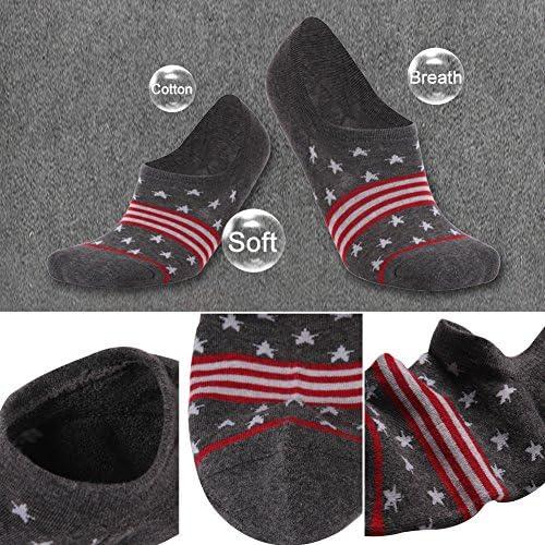 Cotton Low Cut Gmark Unisex No Show Running Socks 1,2,3,4,6 Pairs M,L Flag Socks