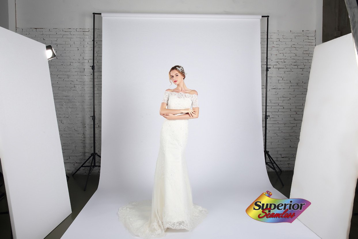 Superior Seamless Photography Background Paper, Photo Backdrop Paper 107'' Wide x 36' #93 Arctic White (113093) by Superior (Image #3)