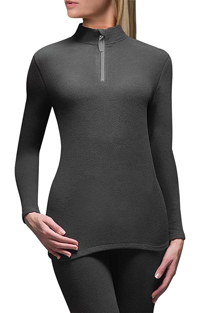 Heat Holders Women's 0.61 tog Microfleece Thermal Base Layer Long Sleeve Top Black
