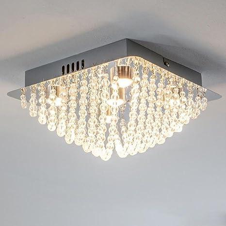 Lámpara LED de techo (Cristal moderna rectangular Diseño ...