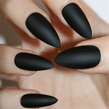 BloomingBoom 24Pcs Falsa Uña Completo Manicura Nail Art Tips ...