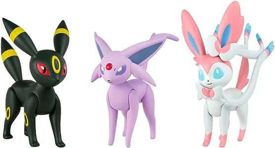 Bizak Pokémon - Pack de 3 Figuras de Espeon, Umbreon y Sylveon ...