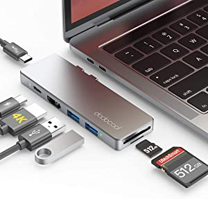 dodocool USB C Hub Adapter 7-in-2 for MacBook Pro 2020/2019/2018/2017/2016 / MacBook Air 2020/2019/2018, Thunderbolt 3 100W PD, 4K HDMI, SD/Micro SD Card Reader, USB C Data Port, 2 USB 3.0