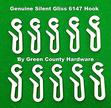 24 x Silent Gliss 6146 Nylon Curtain Hooks to go with 3534 glider