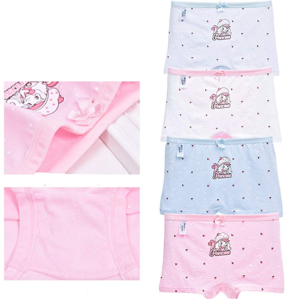 yutu 4 Loaded Female Big Childrens Underwear Cotton Triangle Boxer Cotton Middle School Student Girl Shorts 12-15 Years Old