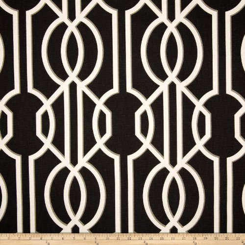 Magnolia Home Fashions 0342116 Deco Onyx Fabric by The Yard,