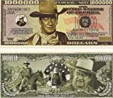 John Wayne $Million Dollar$ Novelty Bill Collectible