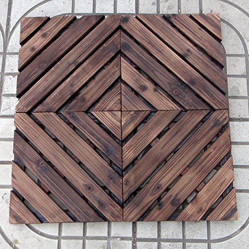 Diy wood flooring/[rural], village,outdoor,mosaic parquet/terrace floor/diy mosaic wood flooring-A (Diy Table Patio Mosaic)