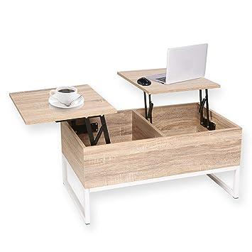 Happy Home Table Basse Avec Plateau De Rangement Avec Rangement 2