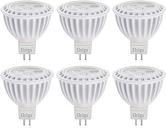 Elrigs Led Lampe Mr16 Gu5 3 Kein Flimmern Warmweiss 3000k 5w Ersetzt 40w 500lm 12v Dc Cri 85 6er Pack Amazon De Beleuchtung