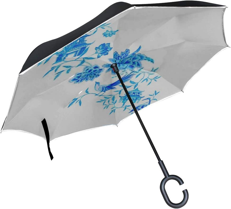 Double Layer Inverted Inverted Umbrella Is Light And Sturdy Amazing Chinoiserie Composition Traditional Chinese Designs Reverse Umbrella And Windproo