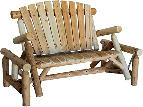 Lakeland Mills CFU139 Cedar Log Glider Natural