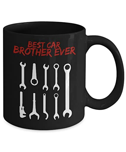 great gift for brother best car brother ever black mug funny cute