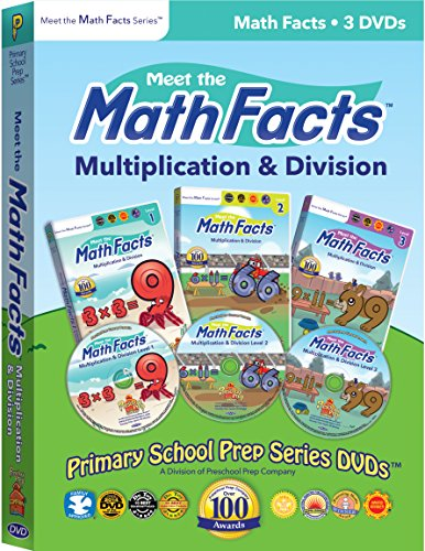 Meet the Math Facts Multiplication & Division - 3 DVD Boxed Set (Math Set Boxed)