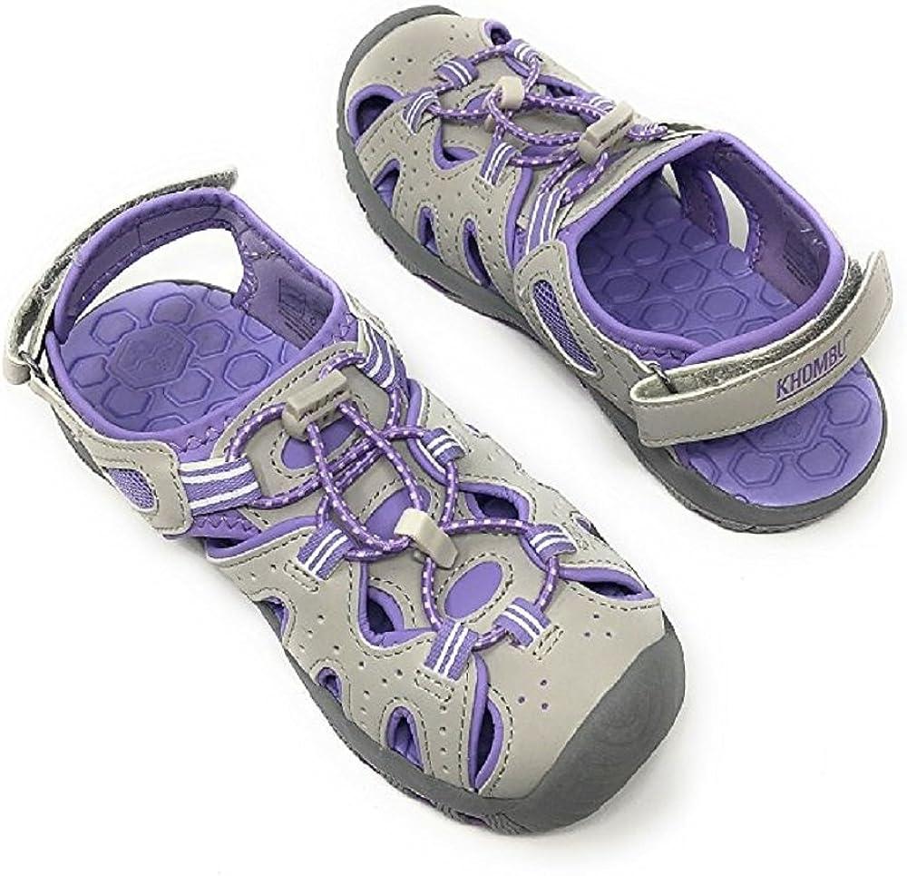 Khombu Kids Athletic Boys Grey Active Sandals 1