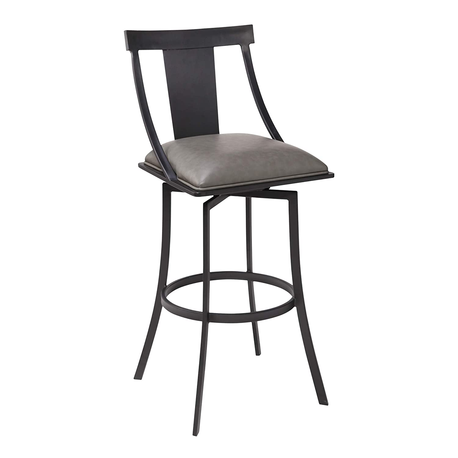 Enjoyable Amazon Com Armen Living Brisbane Faux Leather 26 Bar Stool Andrewgaddart Wooden Chair Designs For Living Room Andrewgaddartcom