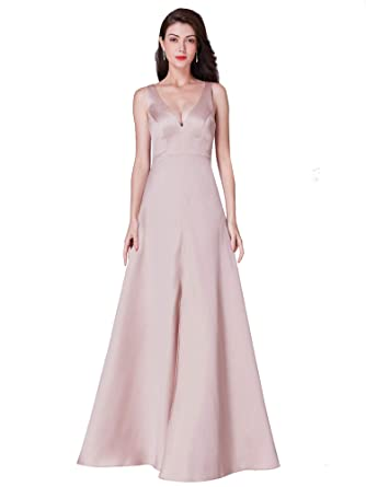 17c6dca2402 Ever-Pretty Long V Neck Sleeveless Formal Evening Dress with Front Slit  07373 at Amazon Women s Clothing store