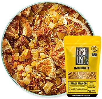 Tiesta 30 Cups Mango Herbal Tea, Loose Leaf Mango Pineapple Fruit Tea