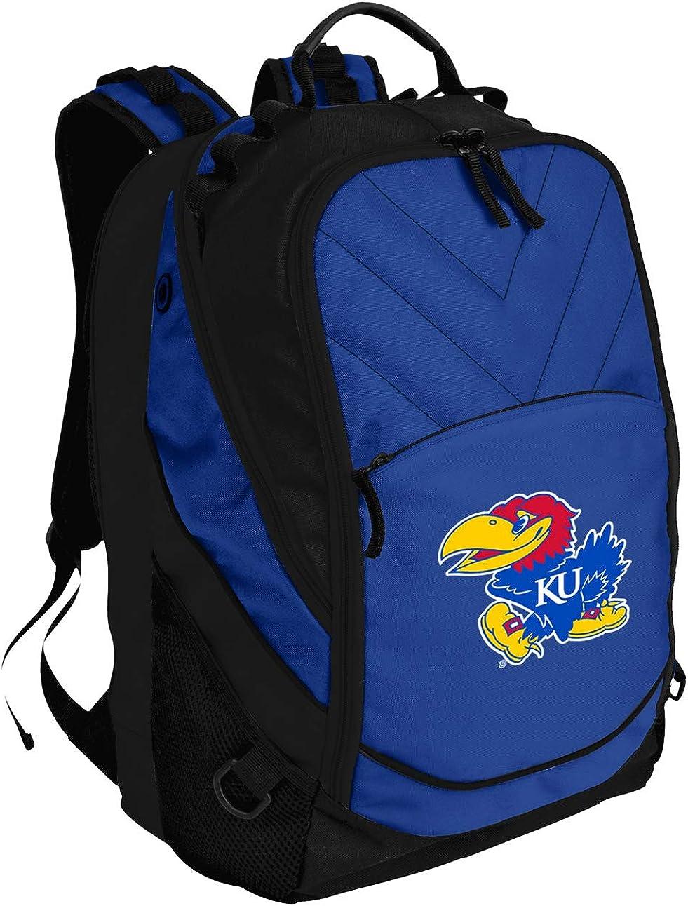 Broad Bay KU Jayhawks Backpack University of Kansas Bag w/Laptop Section