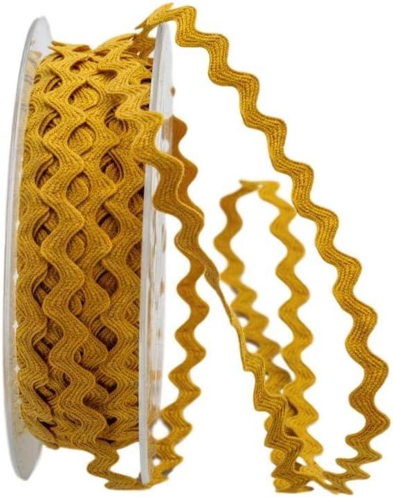 honig ohne Draht Christa-B/änder Zackenlitze Baumwolle 7mm braun