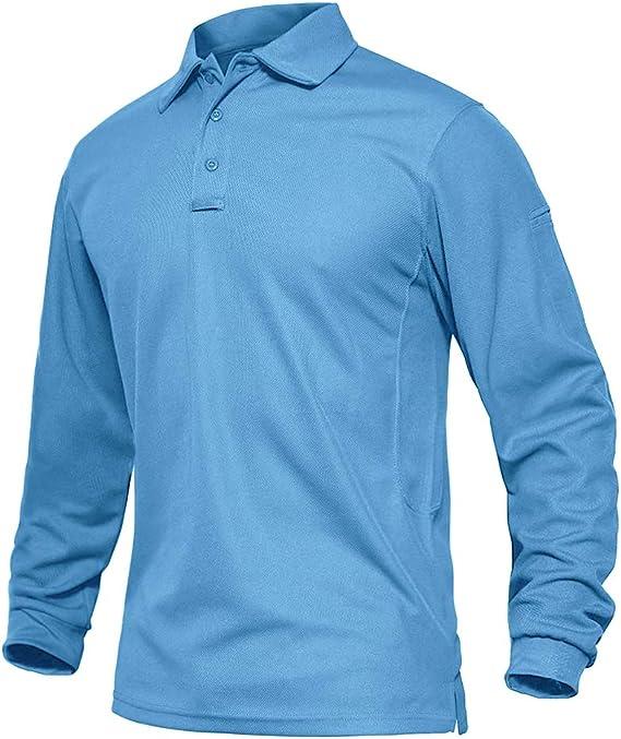 EKLENTSON - Camiseta de manga larga para hombre, estilo militar ...