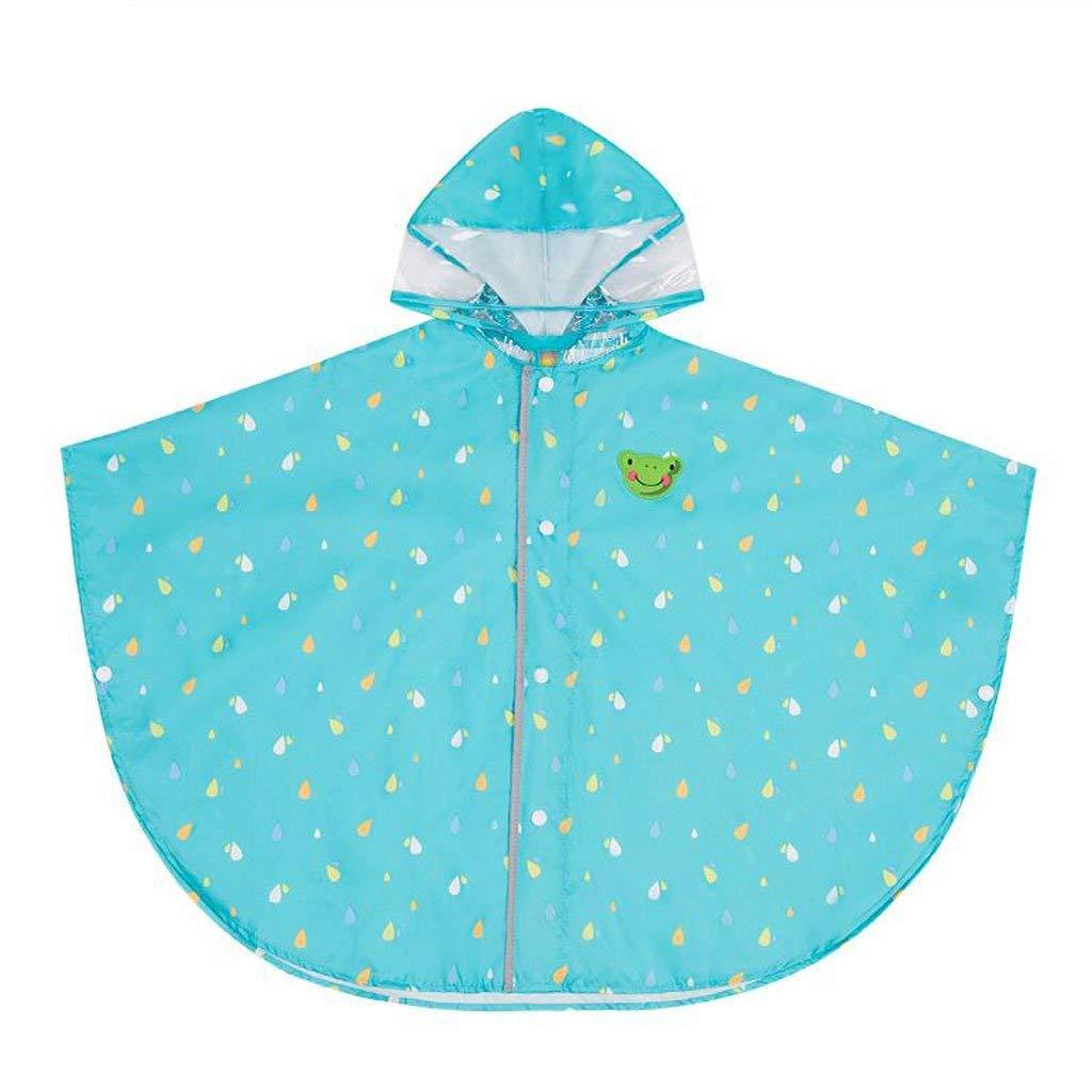 vert-l  BAIF Manteaux de Pluie Enfants garçons et Filles Poncho Cape élèves de la Maternelle (Couleur  Rose-s)