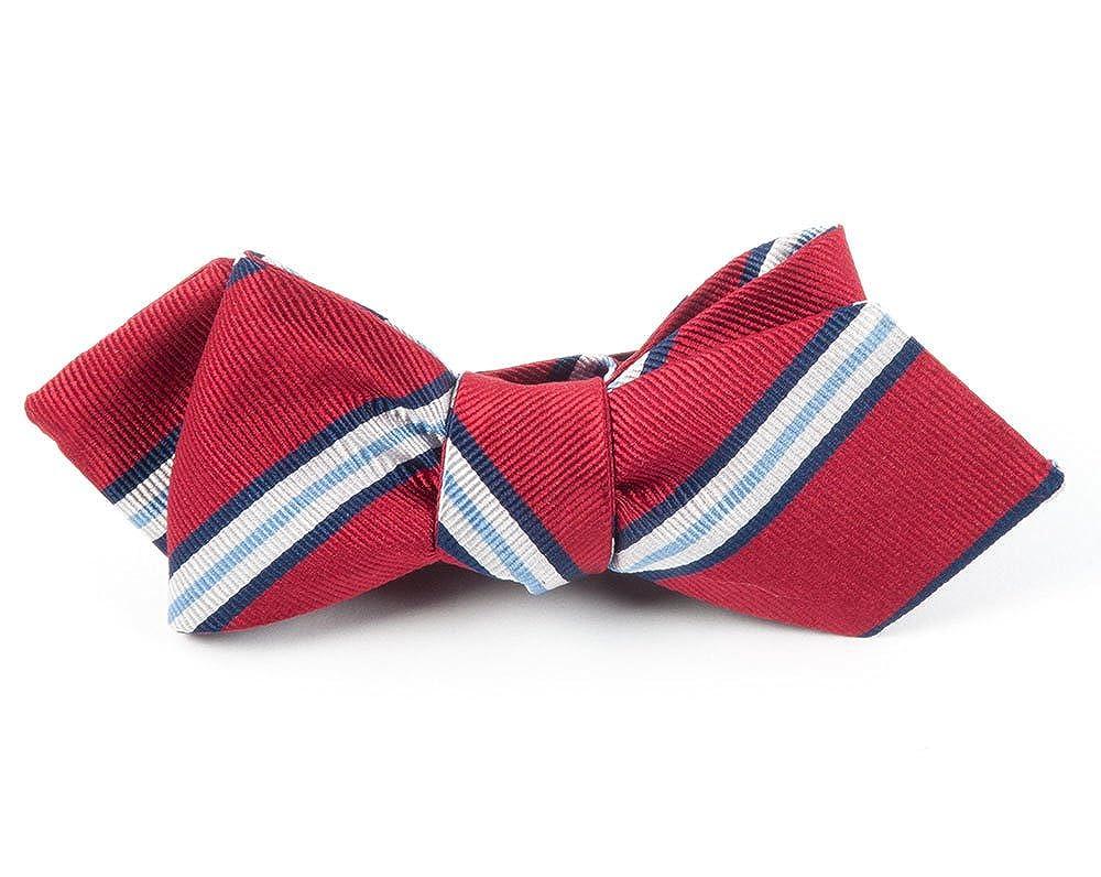 The Tie Bar Pulsar Stripe 100% Woven Silk Bow Tie 0200003440