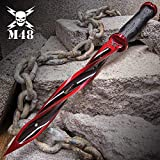 united knife - Special Limited Edition Cardinal Sin Red M48 Cyclone - 2Cr13 Stainless Steel Blade, Reinforced Nylon Handle, Stainless Steel Guard and Pommel